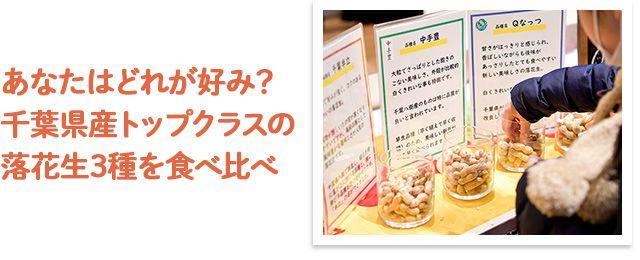 あなたはどれが好み?千葉県産トップクラスの落花生3種を食べ比べ