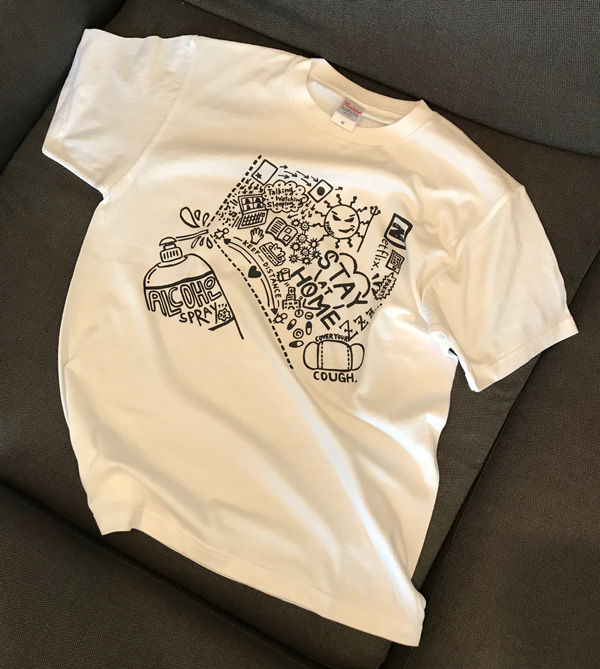 Tシャツ「STAY AT HOME」