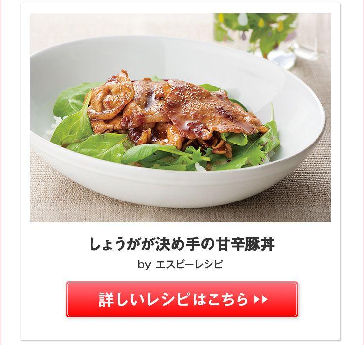 甘辛豚丼>>