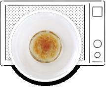 オニオングラタンスープ作り方 煮汁と具をレンジで加熱