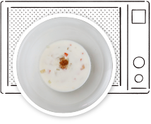 オニオングラタンスープ作り方 具をレンジで加熱
