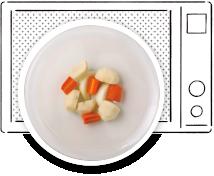ポトフ作り方 具をレンジで加熱