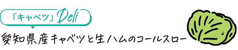愛知県産キャベツと生ハムのコールスロー