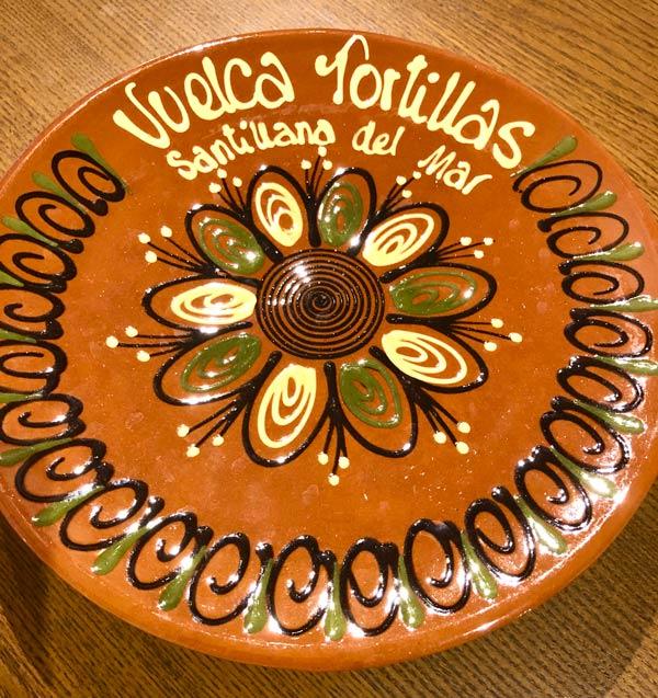 スペイン・バスク地方で買ったトルティージャ用のお皿