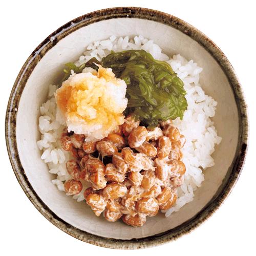 めかぶ+大根おろしの納豆ご飯