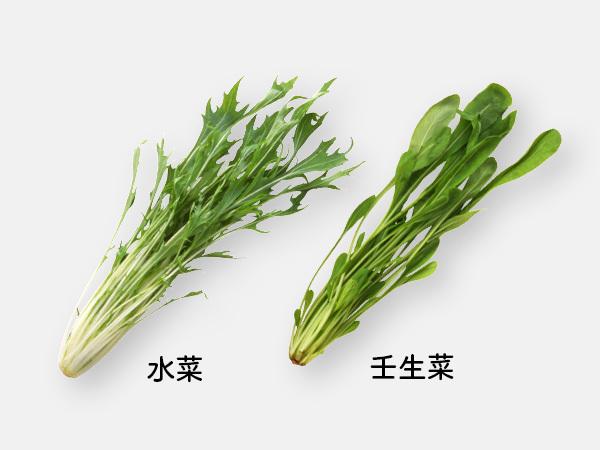 水菜と壬生菜