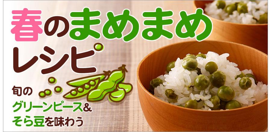 旬のグリーンピース&そら豆を味わう♪ 春のまめまめレシピ